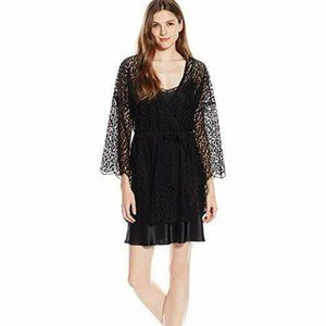 Only Hearts Darling Black Floral Print Lace Kimono